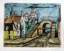 Bernard BUFFET - Stampa Multiplo - Le Mans, Le Tunnel