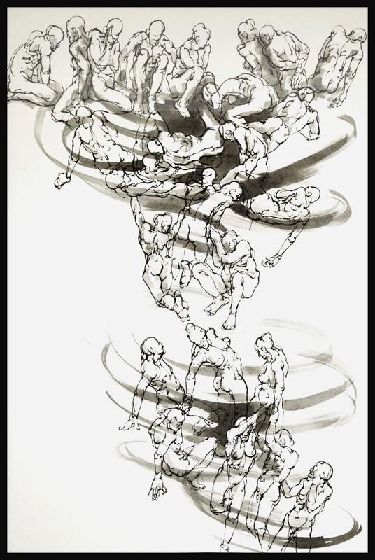 Marie TAKLANTI - Drawing-Watercolor - Sinkhole 2