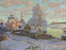 Konstantin Ivanovich GORBATOV (1876-1945) - View of the Church of Boris and Gleb, Kostroma, Winter