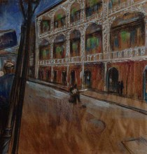 Isabelle JACOPIN - Drawing-Watercolor - '' New Orleans, Royal Street ''.