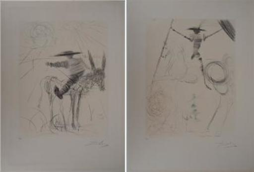 Salvador DALI - Print-Multiple - Don Quixote and Sancho Panza