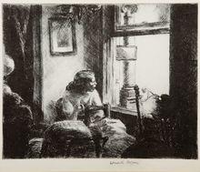 """Edward HOPPER - Print-Multiple - """"East Side Interior"""""""