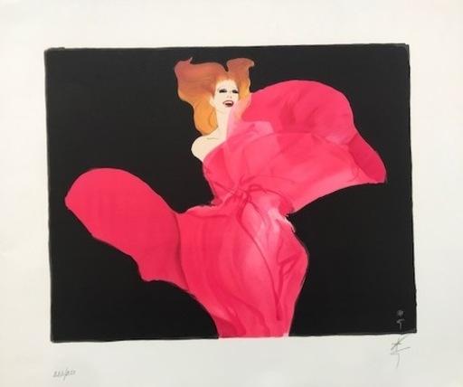 René GRUAU - Print-Multiple - ELEGANTE EN ROSE
