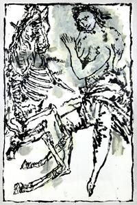 Jean-Pierre PINCEMIN - Zeichnung Aquarell - Sans titre (C94)