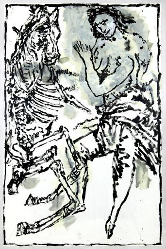 Jean-Pierre PINCEMIN - Disegno Acquarello - Sans titre (C94)