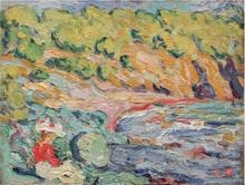 路易斯·瓦尔塔 - 绘画 - Au bord de l'eau