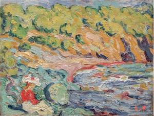 Louis VALTAT - Peinture - Au bord de l'eau