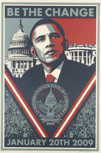 Shepard FAIREY - Druckgrafik-Multiple - Be The Change