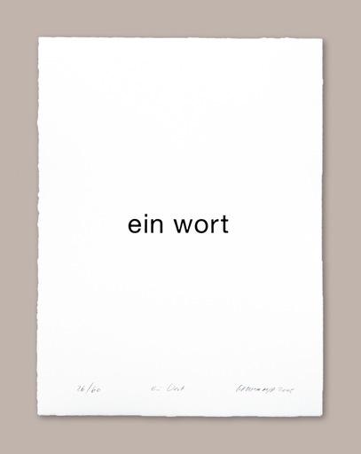 Heinz GAPPMAYR - 版画 - Ein Wort