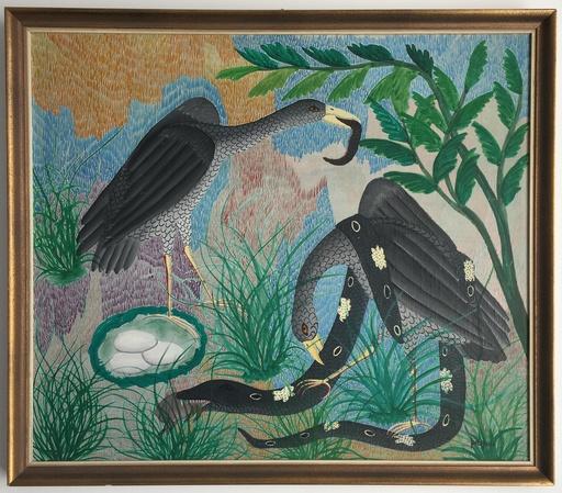 Pilipili MULONGOY - 绘画 - Untitled (birds and snake)
