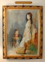 Jean JANSEM - Pintura - Young girl with infiant