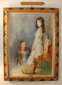 Jean JANSEM - Peinture - Young girl with infiant
