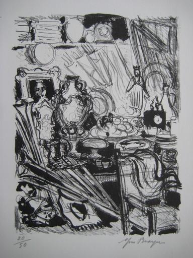 Yves BRAYER - Grabado - LITHOGRAPHIE 1969 SIGNÉE CRAYON NUM/50 HANDSIGNED LITHOGRAPH