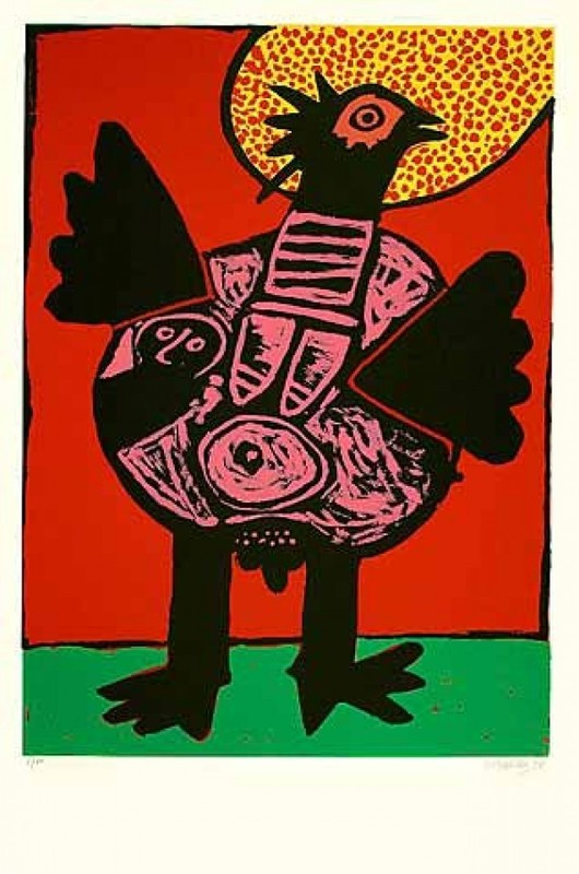 CORNEILLE - Print-Multiple - Big bird (Grosser Vogel)