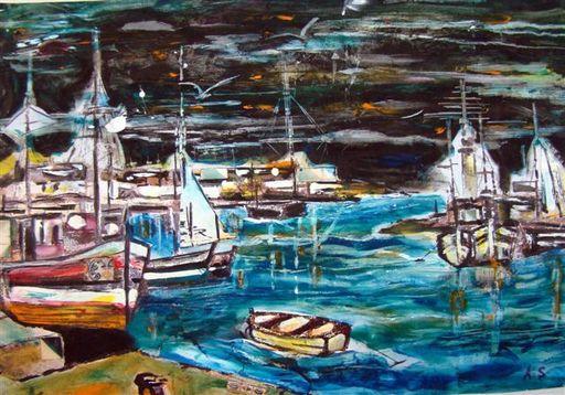 Albert SOCIAS - Painting - le Port