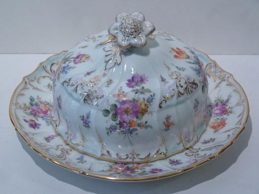 Beurrier en Porcelaine de Saxe