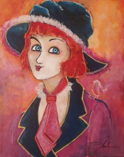 Véronique CLANET - Pittura - AUGUSTINE
