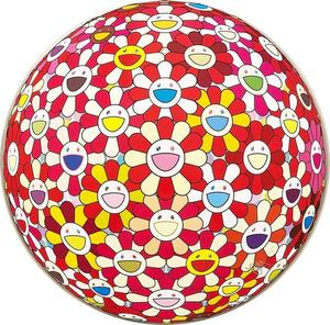 Takashi MURAKAMI - Print-Multiple - Flowerball: Koi/Red-crowned Crane Vermilion