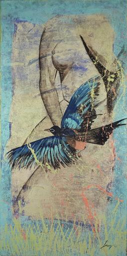 Corine LESCOP - Peinture - L'envol de la vertu