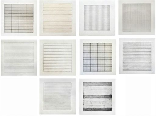 Agnes MARTIN - Grabado - Paintings and Drawings