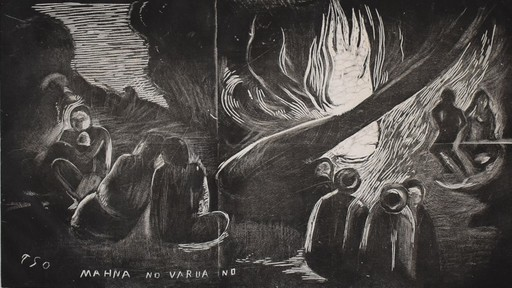 Paul GAUGUIN - Grabado - The Devil Speaks | Mahna no varua ino