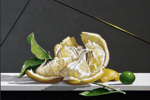 GERICO - Painting - Natura in posa (Limone e oliva)