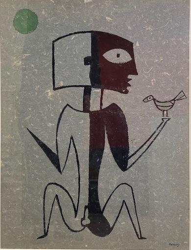 Basil Ivan RAKOCZI - Peinture - man with bird