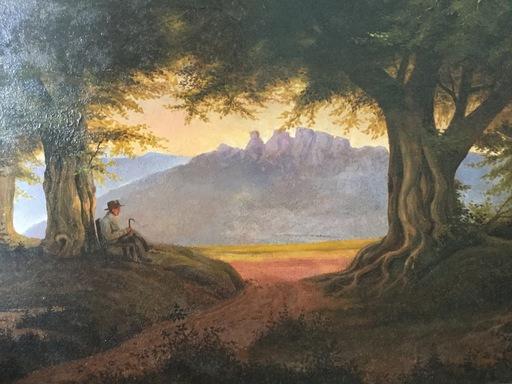 Pierre PAULUS - Pintura - Peintre à l'orée de la forêt