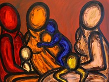 Francesco RUSPOLI - Pintura - Three Mothers    (Cat N° 5578)