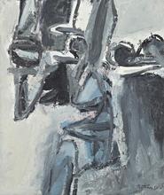Albert BITRAN - Painting - Chevalets, 1961