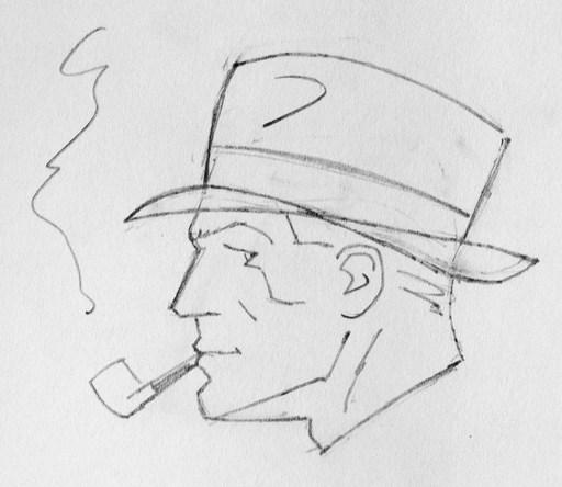 "Pascal J. ZANON - Drawing-Watercolor - ""Harry Dikson"""