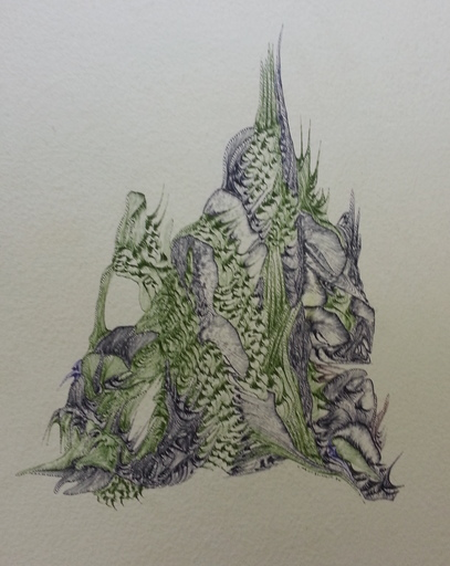 Shirley CARCASSONNE - Dibujo Acuarela - Créature fantastique
