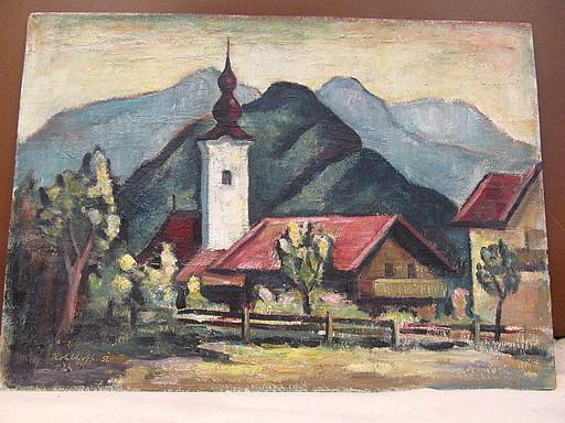 Walter KOHLHOFF - Pittura - Dorf in den Alpen