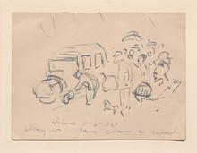 Edvard MUNCH (1863-1944) - Car and crowd