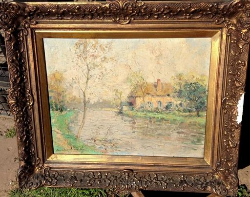 Paul Emile LECOMTE - Painting - Paysage