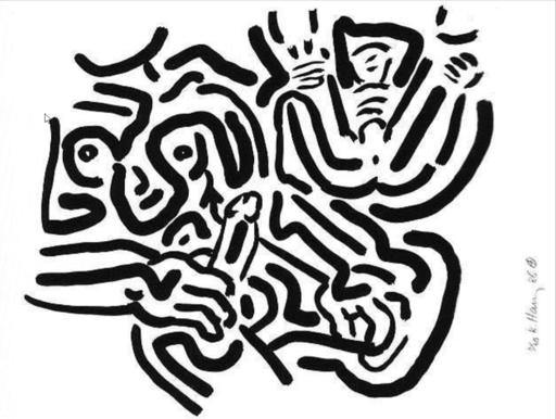 Keith HARING - Print-Multiple - Bad Boys Suite