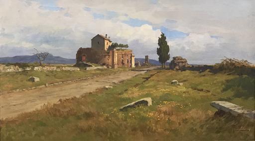 Filippo ANIVITTI - Gemälde - Appia Antica, il Mausoleo di Casal Rotondo