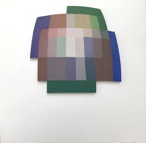 Dora MAURER - Peinture - Entwurf zu Overlapping 12