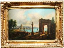 Michele Giovanni MARIESCHI (Attrib.) - Painting - Capricci Italienische Küstenlandschaft mit Ruinen
