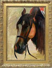 Franz HECKENDORF - Painting - Pferdekopf