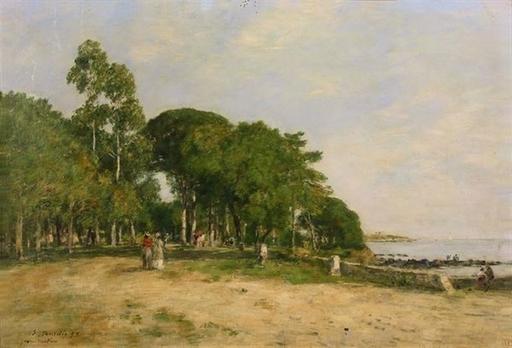 Eugène BOUDIN - Pintura - Juan les Pins. La promenade et la baie