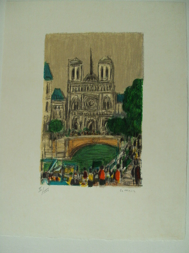André COTTAVOZ - Estampe-Multiple - Paris:Notre Dame,1985.