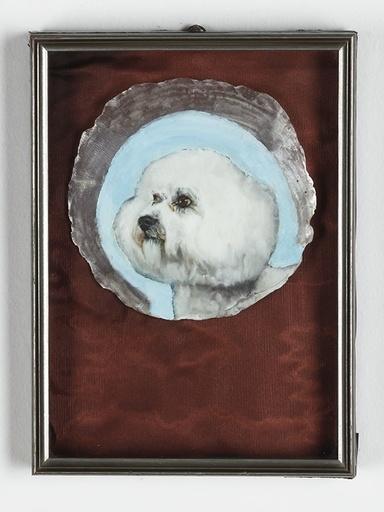 Leopold RABUS - Pintura - Sans Titre (caniche sur coquillage)