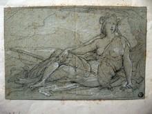 Joseph FÉLON - Dibujo Acuarela - DEESSE