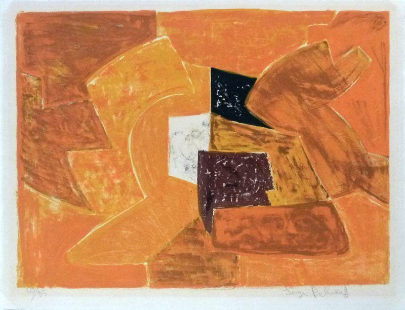 Serge POLIAKOFF - Grabado - Composition orange n°23