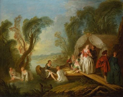 Jean-Baptiste François PATER - Painting - La Barque de plaisir