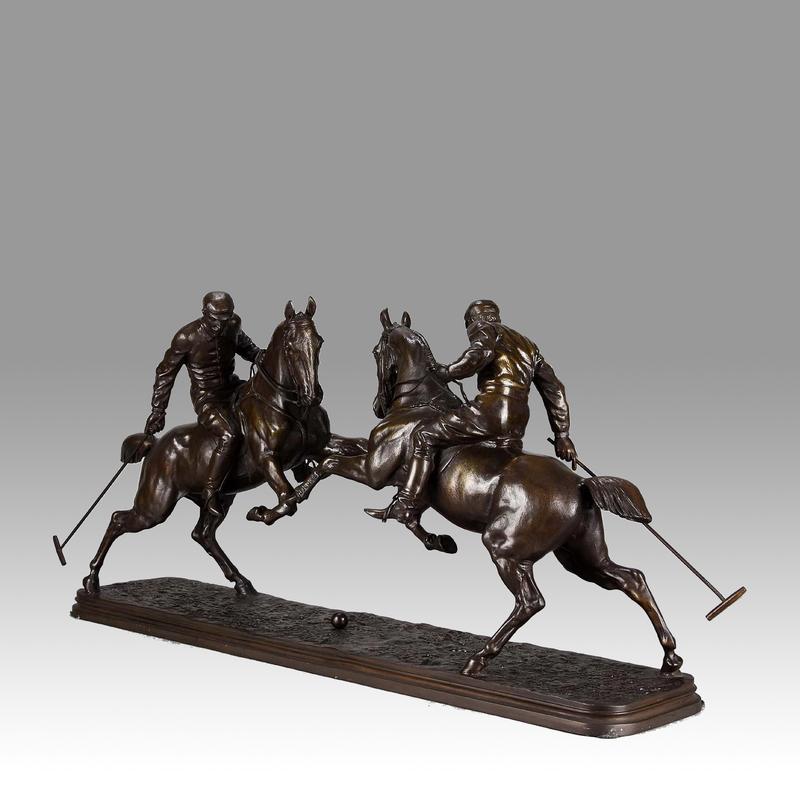 """Isidore Jules BONHEUR - Skulptur Volumen - """"Polo Players"""" by Isidore Bonheur"""