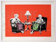BANKSY - Estampe-Multiple - Grannies Hand Sprayed HP signed