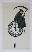 班克斯 - 版画 - Grin Reaper AP (on cream) signed