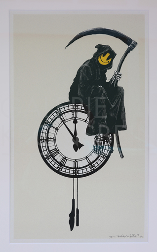 BANKSY - Print-Multiple - Grin Reaper AP (on cream) signed